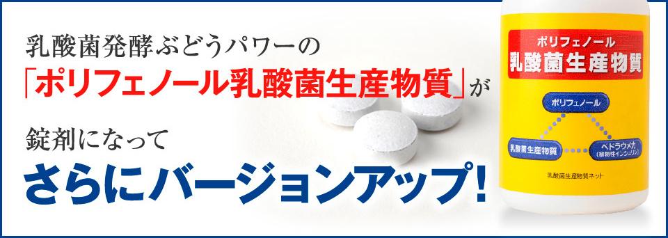 ポリフェノール乳酸菌生産物質がさらにバージョンアップ!
