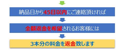 乳酸菌生産物質原液「ゼン」返金保証チャート2