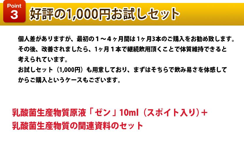 好評の1000円お試しセット